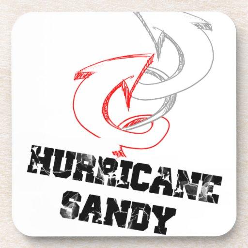 hurricane sandy drink coaster