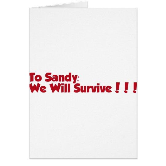 Hurricane Sandy Items Card