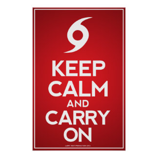 Hurricane Sandy - Keep Calm and Carry On Poster