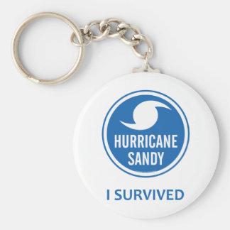 Hurricane Sandy Basic Round Button Keychain