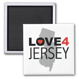 Hurricane Sandy - Love 4 Jersey 2 Inch Square Magnet