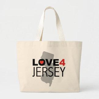 Hurricane Sandy - Love 4 Jersey Large Tote Bag