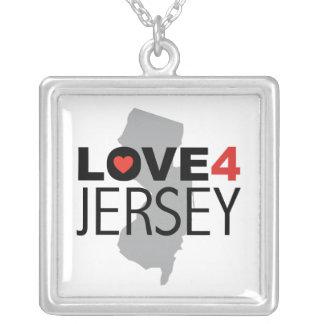 Hurricane Sandy - Love 4 Jersey Square Pendant Necklace