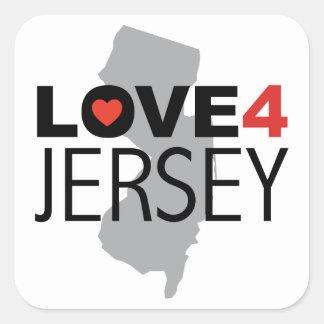 Hurricane Sandy - Love 4 Jersey Square Sticker