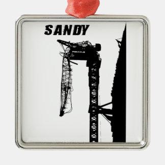 Hurricane Sandy Metal Ornament