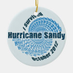 Hurricane Sandy Double-Sided Ceramic Round Christmas Ornament