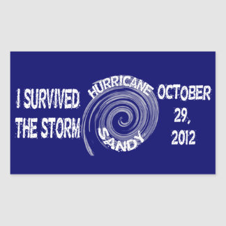 Hurricane Sandy Rectangular Sticker