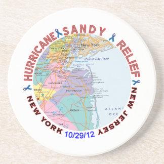 Hurricane Sandy Relief Awareness Beverage Coaster