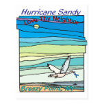 Hurricane Sandy Relief Breezy Point NY Postcards