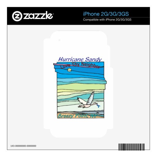 Hurricane Sandy Relief Breezy Point NY Skin For iPhone 2G