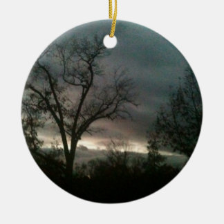 Hurricane Sandy Sunset Ceramic Ornament