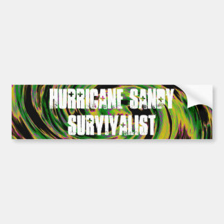 Hurricane Sandy Survivalist Bumper Sticker