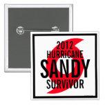 Hurricane Sandy Survivor 2012 Button 1