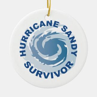 Hurricane Sandy Survivor 2012 Ceramic Ornament