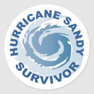 Hurricane Sandy Survivor 2012 Classic Round Sticker