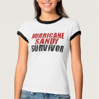 Hurricane Sandy Survivor Distressed Ringer Shirt