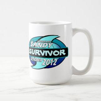 Hurricane Sandy Survivor Classic White Coffee Mug