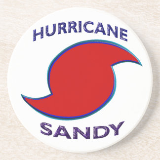 Hurricane Sandy Symbol Drink Coaster