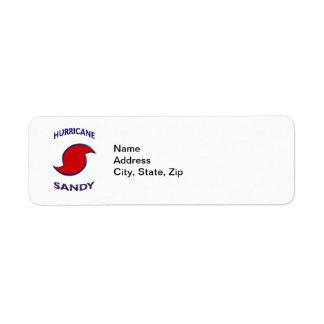 Hurricane Sandy Symbol Label