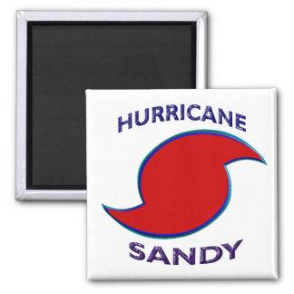 Hurricane Sandy Symbol 2 Inch Square Magnet
