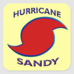 Hurricane Sandy Symbol Square Sticker