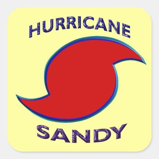 Hurricane Sandy Symbol Square Sticker