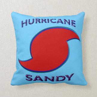 Hurricane Sandy Symbol Throw Pillow