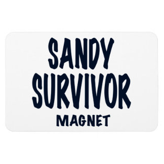 "Hurricane Sandy, text, ""SANDY SURVIVOR MAGNET"" Rectangular Photo Magnet"