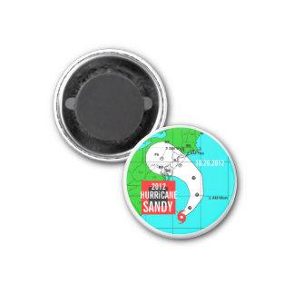 Hurricane Sandy Track Magnet 1