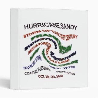 Hurricane Sandy Words Binder
