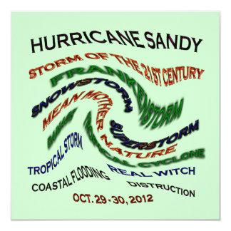 Hurricane Sandy Words Custom Invites