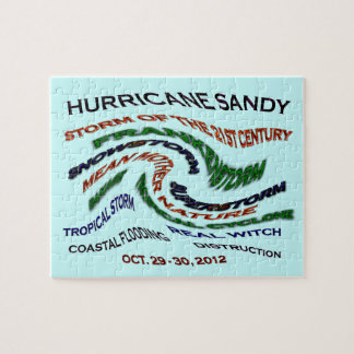 Hurricane Sandy Words Jigsaw Puzzle