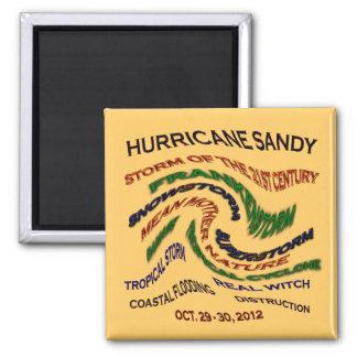 Hurricane Sandy Words Magnet