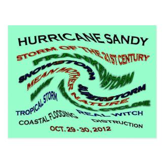 Hurricane Sandy Words Postcard
