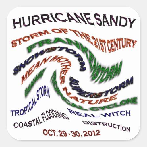 Hurricane Sandy Words Sticker