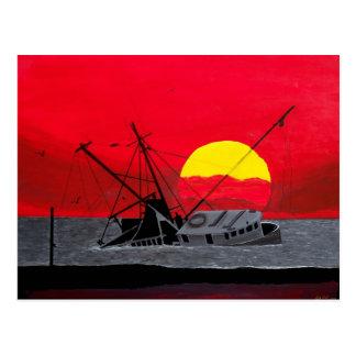 Hurricane Sunset After the Hurricane Post card art