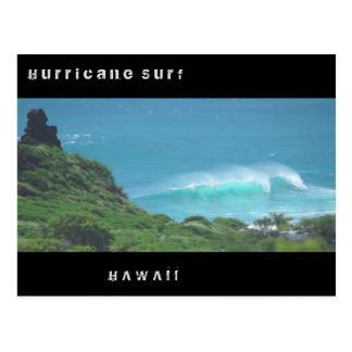 Hurricane Surf Hawaii Postcard