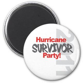 Hurricane Survival Party 1011 Fridge Magnet