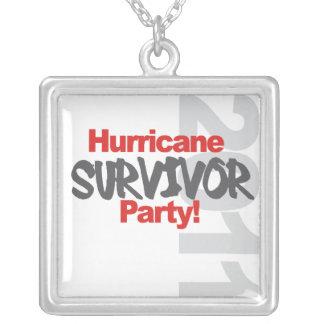 Hurricane Survival Party 1011 Square Pendant Necklace