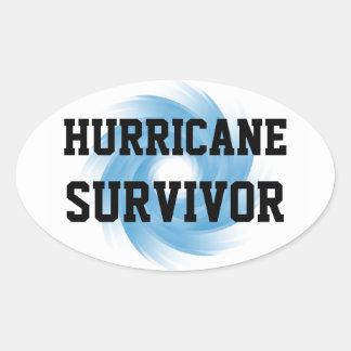 HURRICANE SURVIVOR stickers (4, oval)