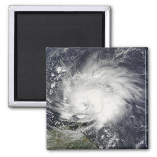Hurricane Tomas over the Lesser Antilles 2 Inch Square Magnet