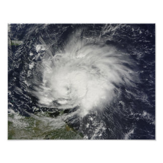 Hurricane Tomas over the Lesser Antilles Poster