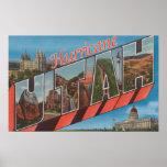 Hurricane, Utah - Large Letter Scenes Poster