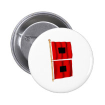 Hurricane Warning Pinback Button