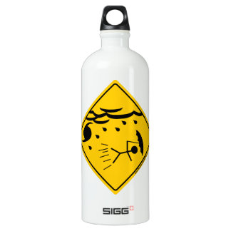 Hurricane Weather Warning and Clothing Aluminum Water Bottle