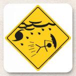 Hurricane Weather Warning Merchandise and Clothing Coaster