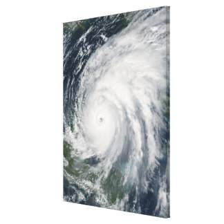 Hurricane Wilma over Mexico Stretched Canvas Print