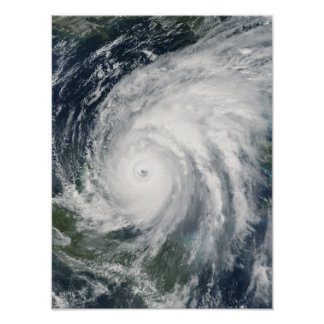 Hurricane Wilma over Mexico Poster