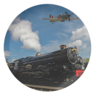 Hurricanes and steam train dinner plate