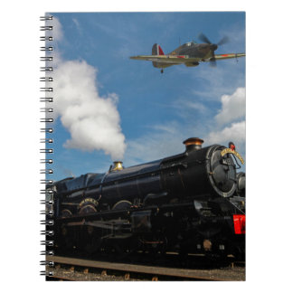 Hurricanes and steam train notebook